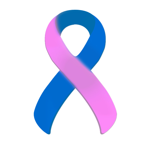 blue-pink Ribbon Suicide Ribbon Teal Purple